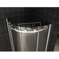 Wiesbaden Halle (90x90x200 cm) douchecabine kwartrond 2 schuifdeur 8mm NANO Anti-kalk