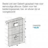 Gustavsberg Saval vlakspoel toiletset met Geberit UP100 en Delta21 bedieningspaneel