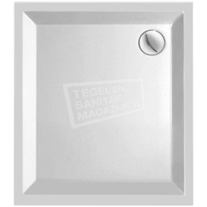 Plieger Kwadrant kunststof douchebak acryl rechthoekig 90x80x5cm wit