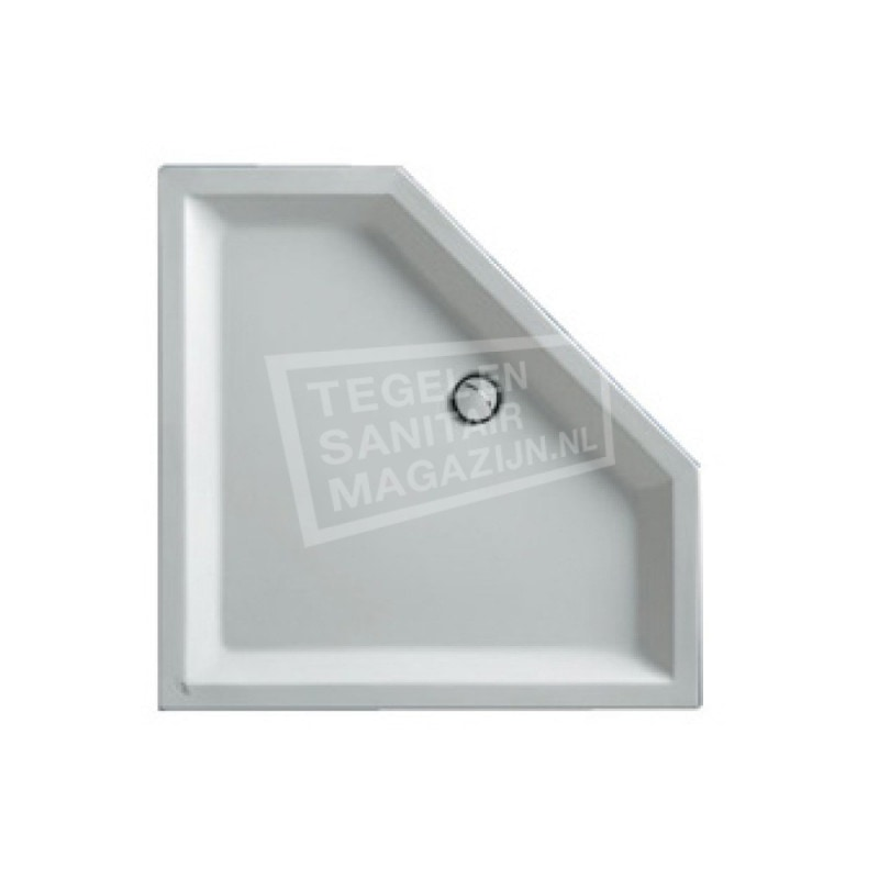 Plieger Kwadrant kunststof douchebak acryl vijfhoekig 90x90x18.5cm wit