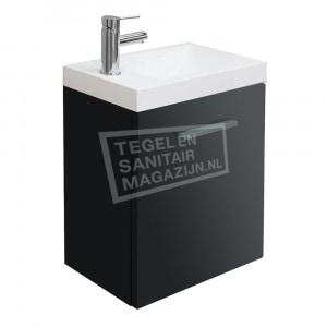 Wiesbaden Emma toiletmeubel 50x25x50 cm hoogglans grijs