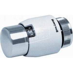 Honeywell Decor thermostaatkop wit / chroom M30 x 1,5. Met vloeistof voeler