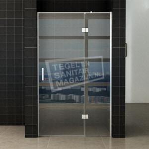 Wiesbaden Helo Nisdeur + Vast Paneel 90(60-30)x200 cm NANO Anti-Kalk