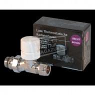Best Design Luxe Thermostatische Radiatorkraan Recht 1/2''x15) Chroom