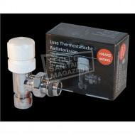 Best Design Luxe Thermostatische Radiatorkraan Haaks 1/2''x15) Chroom