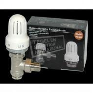 Best Design Thermostatische Radiatorkraan-Set Haaks 1/2''x15) Nikkel