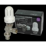 Best Design Thermostatische Radiatorkraan-Set Axiaal 1/2''x15) Nikkel