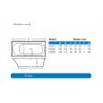Beterbad Aruba (170x75x45cm) Duobad 260L Acryl Wit