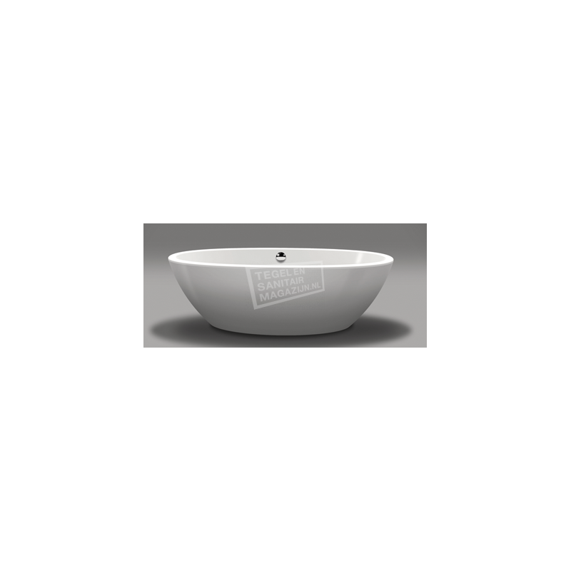 Vrijstaand Beterbad Britt (190x94x60cm) Duobad 275L Acryl Wit