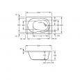 Plieger Compact (120x80x43cm) 140 liter Solobad Acryl Wit met Badpoten