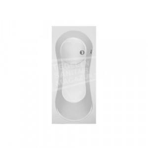 Plieger Space (180x80x48cm) 215 liter Geintegreerd douchegedeelte Acryl Wit met Badpoten Extra Diep