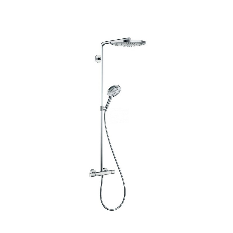 Hansgrohe Raindance thermostatisch (douche) opbouw douchecombinatie set chroom-wit 27129400