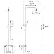 Beterbad Pure Cinca opbouw regendouche set chroom CN5316