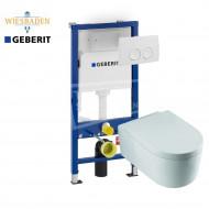 Wiesbaden Arco toiletset met Geberit UP100 en Delta21 bedieningspaneel