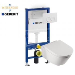 Wiesbaden Metro toiletset met Geberit UP100 en Delta21 bedieningspaneel