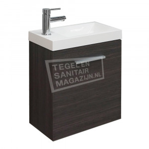Wiesbaden Emma toiletmeubel 50x25x50 cm grijs eiken
