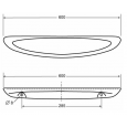 Spring planchet 60x14.5cm keramisch wit