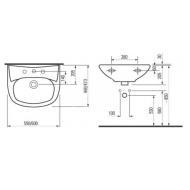 Plieger Brussel (55x44cm) Wastafel Wit