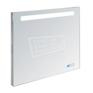 Aluminium spiegel met TL verlichting en radio100cm