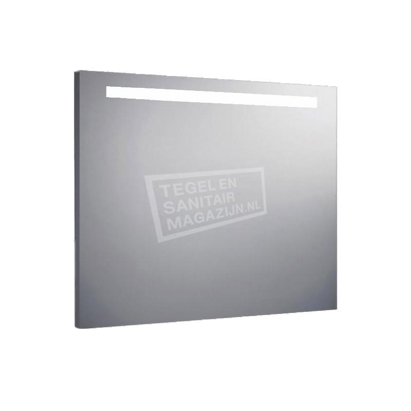 Aluminium spiegel met TL verlichting 120 cm