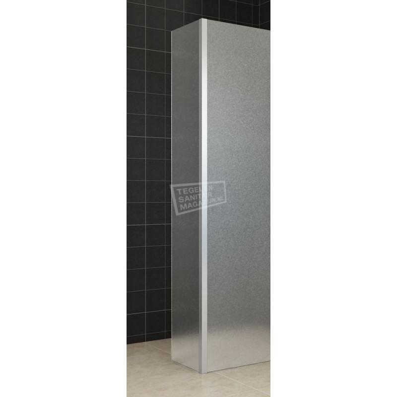 Zijwand Wiesbaden met Hoekprofiel 35x200 10mm NANO Matglas