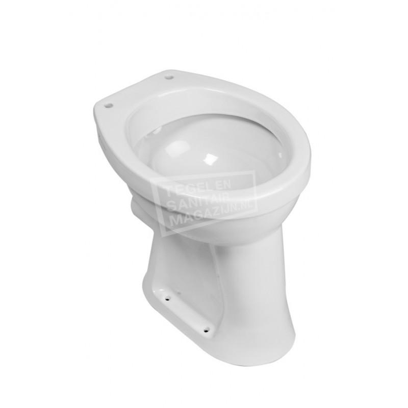 Wiesbaden Staande Verhoogde Toiletpot + 6 Pk Wit