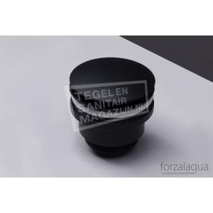 "Forzalaqua Afvoerplug Chroom 5/4"" Push Open Zwart"