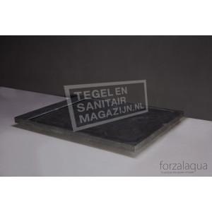 Forzalaqua Fresco Douchebak Rechthoek Hardsteen Gezoet 120x90x5 cm Incl RVS Put