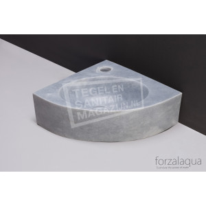 Forzalaqua Turino Fontein Kwartrond Cloudy Marmer Gezoet 30x30x10 cm
