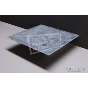 Forzalaqua Milano Waskom Cloudy Marmer Gezoet 45x45x12 cm