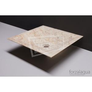 Forzalaqua Milano Waskom Travertin Gezoet 45x45x12 cm
