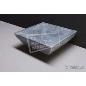Forzalaqua Siracusa Waskom Cloudy Marmer Gezoet 40x40x15 cm