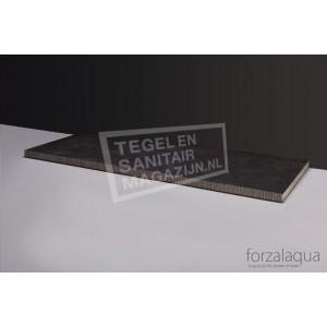 Forzalaqua Plateau Wastafelblad Rechthoek Hardsteen Gefrijnd 100,5x51,5x3 cm 2 afvoergaten (72mm)