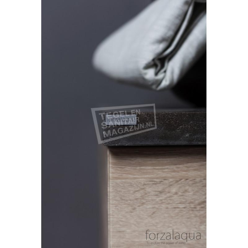 Forzalaqua Plateau Wastafelblad Rechthoek Hardsteen Gezoet 120,5x51,5x3 cm 2 afvoergaten (72mm)