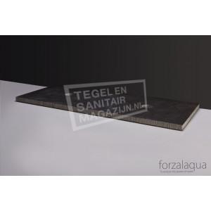 Forzalaqua Plateau Wastafelblad Rechthoek Hardsteen Gefrijnd 120,5x51,5x3 cm 2 afvoergaten (72mm)