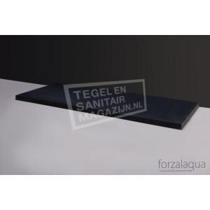 Forzalaqua Plateau Wastafelblad Rechthoek Basalt Gezoet 80,5x51,5x3 cm 1 afvoergat (72mm)