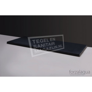 Forzalaqua Plateau Wastafelblad Rechthoek Basalt Gezoet 100,5x51,5x3 cm 2 afvoergaten (72mm)