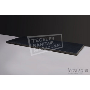 Forzalaqua Plateau Wastafelblad Rechthoek Basalt Gebrand 100,5x51,5x3 cm 1 afvoergat (72mm)