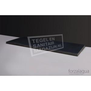 Forzalaqua Plateau Wastafelblad Rechthoek Basalt Gebrand 100,5x51,5x3 cm 2 afvoergaten (72mm)