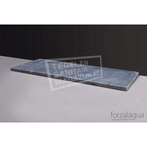 Forzalaqua Plateau Wastafelblad Rechthoek Cloudy Marmer Gezoet 60,5x51,5x3 cm 1 afvoergat (72mm)