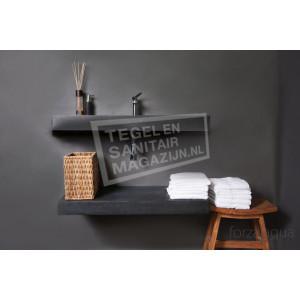 Forzalaqua Bellezza Wastafel 100 cm Basalt Gezoet 100,5x51,5x9 cm 1 wasbak 1 kraangat