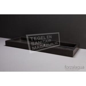 Forzalaqua Palermo Wastafel 100 cm Hardsteen Gezoet 100,5x51,5x9 cm 1 wasbak 2 kraangaten