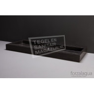 Forzalaqua Palermo Wastafel 100 cm Hardsteen Gezoet 100,5x51,5x9 cm 1 wasbak zonder kraangaten