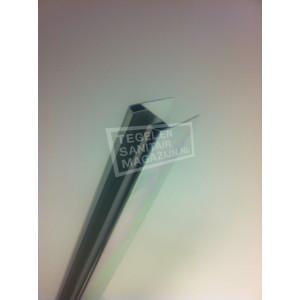 Mueller Chroom Glasprofiel t.b.v. Muurprofiel Glasdikte 1 cm Lengte 200 cm