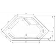 Whirlpool Bibury Napels Basis (145x145x44,5cm) Hoekbad Pneumatisch