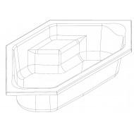 Whirlpool Bibury Napels Combi Deluxe Hoekbad (145x145x44,5cm) Elektronisch