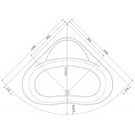 Whirlpool Bibury Milaan Basis (145x145x47cm) Hoekbad Rond Pneumatisch