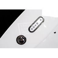 Whirlpool Bibury Milaan Combi Deluxe (145x145x45,4cm) Hoekbad Rond Elektronisch