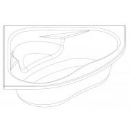 Whirlpool Bibury Milaan Combi (145x145x47cm) Hoekbad Rond Pneumatisch