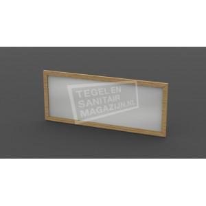 Forzalaqua Gela Spiegel 40x50x2cm met Lijst 4cm Castle Brown Massief Eiken